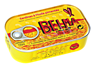 Belma - Sardines à l'huile pimentée