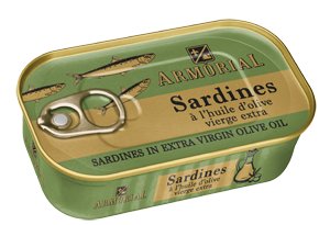 Armorial Sardines à l'huile d'olive extra vierge